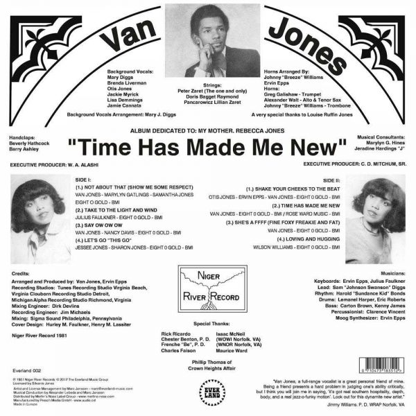 Van Jones Time Has Made Me New LP CD