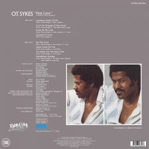 O.T. Sykes - First Love LP CD back cover