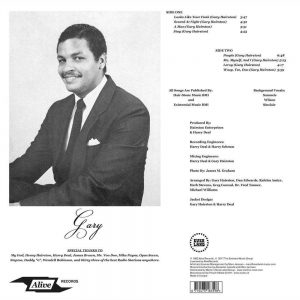 Gary - Chilling Out LP CD back cover