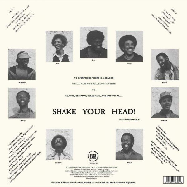 The Chapparrals - Shake Your Head LP CD back cover