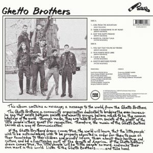 The Ghetto Brothers Power-Fuerza back cover LP CD