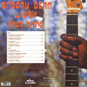 Snoopy Dean Wiggle That Thing LP CD back cover