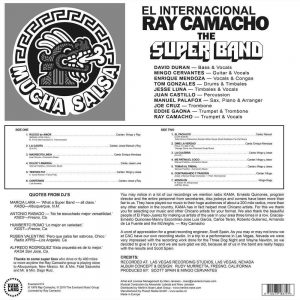 El Internacional Ray Camacho - Mucha Salsa LP CD back cover