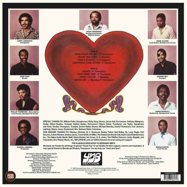 Standing Room Only - Heart And Soul LP CD back cover