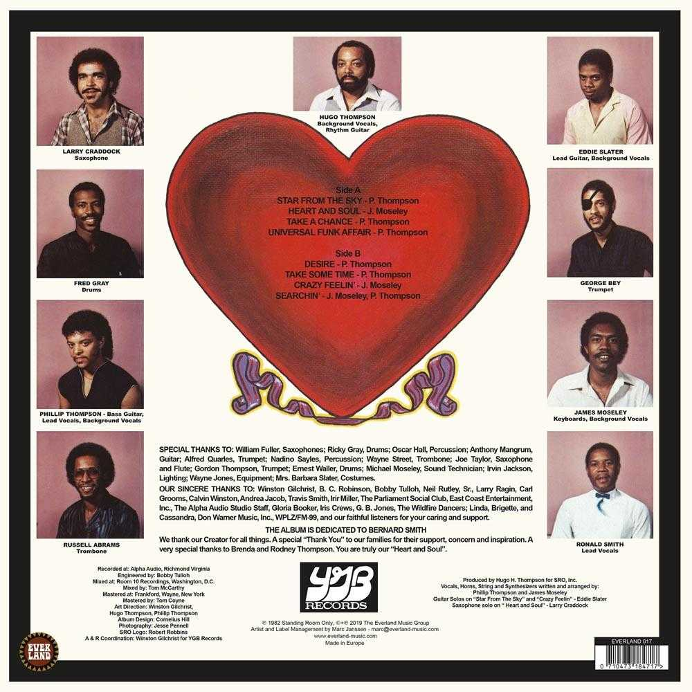 Standing Room Only - Heart And Soul (Vinyl, CD, download) | FUNK, SOUL