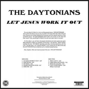 Daytonians - Let Jesus Work It Out LP CD back cover