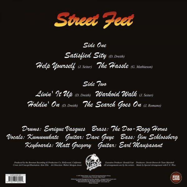 Street Feet LP CD back cover