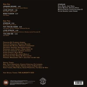 Starvue Upward Bound LP CD back cover