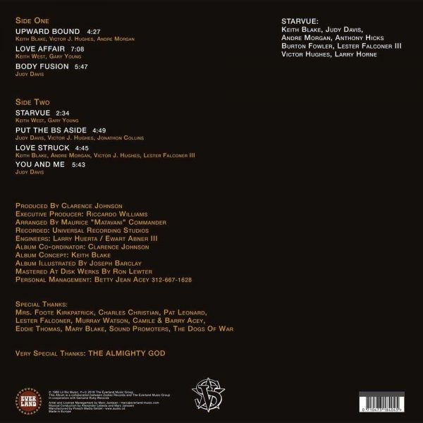 Starvue Upward Bound LP CD back cover