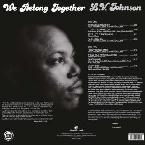 L.V. Johnson - We Belong Together LP CD back cover