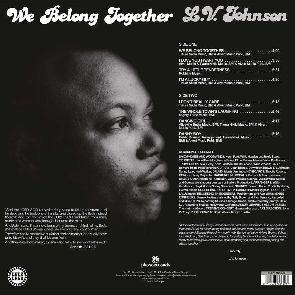 25a3a7be9 L.V. Johnson - We Belong Together (Vinyl, CD, download) | FUNK, SOUL