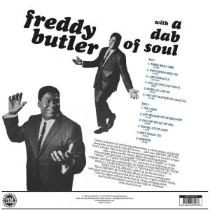 Freddy Butler - With A Dab Of Soul back cover LP CD