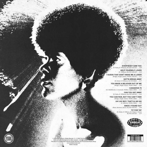 Ruby Andrews Everybody Saw You LP CD back cover