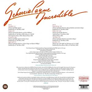 Scherrie Payne - Incredible LP CD back cover