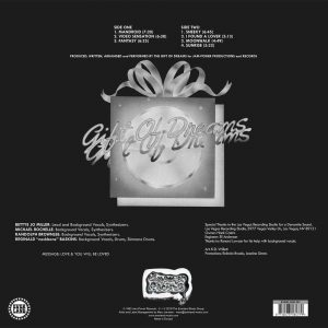 Gift Of Dreams - Mandroid LP CD back cover