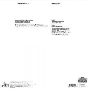 Pharoah Sanders Izipho Zam LP CD back cover