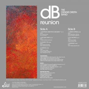 The Dennis Dreith Band - Reunion LP CD back cover