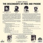 The Descendants Of Mike And Phoebe A Spirit Speaks LP CD
