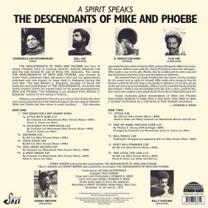 The Descendants Of Mike And Phoebe A Spirit Speaks LP CD back cover