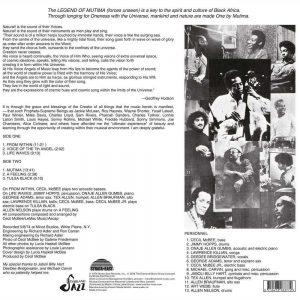 Cecil McBee - Mutima LP CD back cover