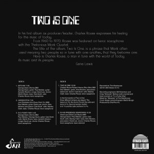 Charles Rouse - Two Is One LP CD back cover