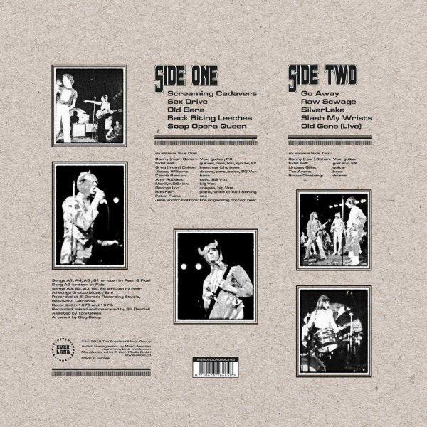 Charleston Grotto - Raw Sewage LP CD back cover