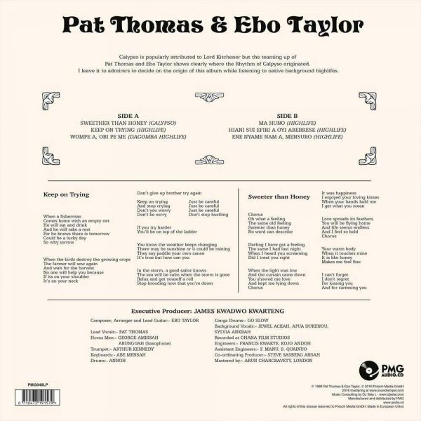 "Pat Thomas & Ebo Taylor - Sweeter Than Honey, Calypso ""Mahuno"" And High Lifes Celebration"
